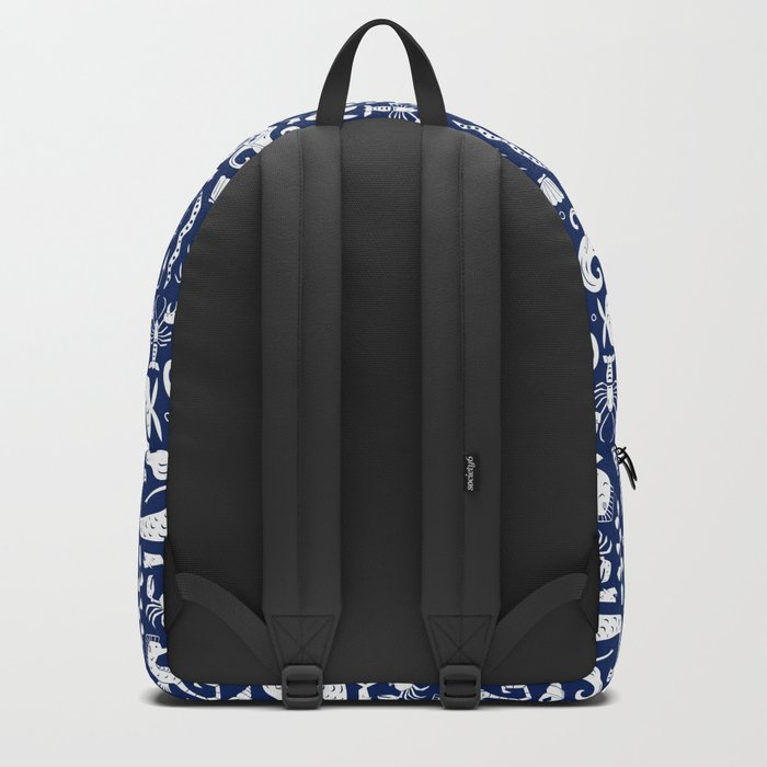 Under The Sea Navy Blue Backpack