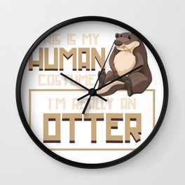 Otter Human Wall Clock