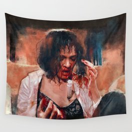 Adrenaline Shot - Mia Wallace - Pulp Fiction Wall Tapestry