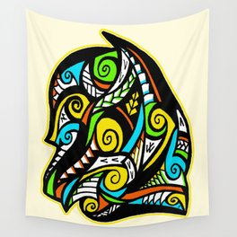 Tribal Egyptian Dog Wall Tapestry