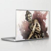 david olenick Laptop & iPad Skins featuring David by maxandr