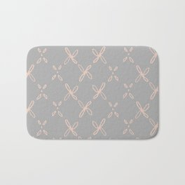 Pink & Gray Abstract Astral Pattern Bath Mat