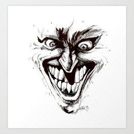 """Turn that Smile Upsidedown"" Art Print"