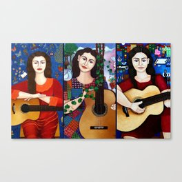 Violeta Parra collage Canvas Print