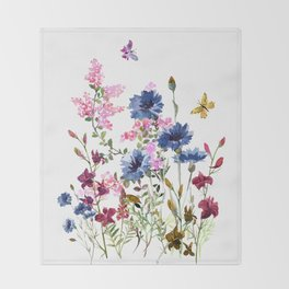 Wildflowers IV Throw Blanket