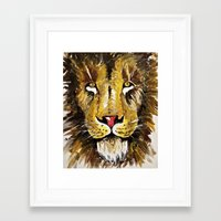 the lion king Framed Art Prints featuring Lion King by Chris Knight