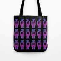 robots Tote Bags featuring Robots by Scar Design