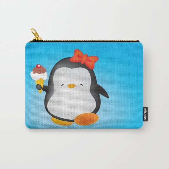 ice cream penguin Carry-All Pouch