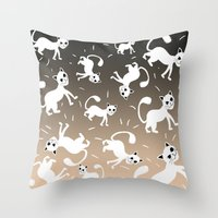kittens Throw Pillows featuring kittens by Seefirefly