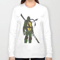 ninja turtles Long Sleeve T-shirts featuring Ninja Turtles Donatello by minusblindfold