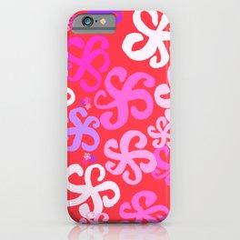 Crazy Bright Hibiscus iPhone Case