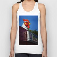 scary Tank Tops featuring Scary Chicken by Mark Alder