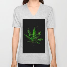 Pothead - Skull and Pot Plant Unisex V-Neck