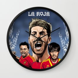 La Roja Wall Clock