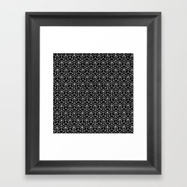 Hand Drawn Hypercube Black Framed Art Print