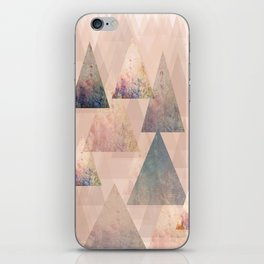 Pastel Abstract Textured Triangle Design iPhone Skin