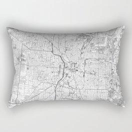 Vintage Map of San Antonio Texas (1953) BW Rectangular Pillow