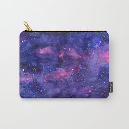 Galaxy Pattern Watercolor Nebula Texture Carry-All Pouch