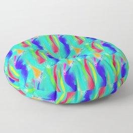 "Colored ribbons - ""mas é carnaval"" Floor Pillow"
