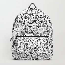 Fishy Foxes Black&White Backpack