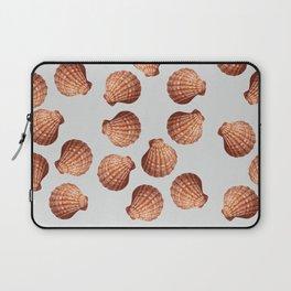 Grey Big Clam pattern Illustration design Laptop Sleeve