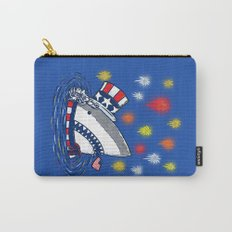 The Patriotic Shark Carry-All Pouch