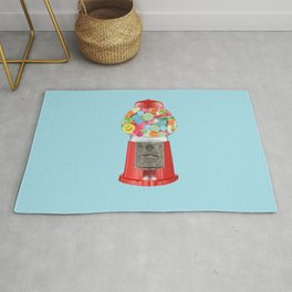 happy pills blue Rug
