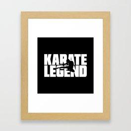 Karate Legend Framed Art Print