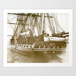 Constitution, Rhode Island Art Print