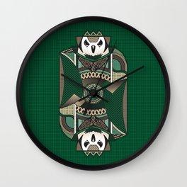 Owl Card. Wall Clock
