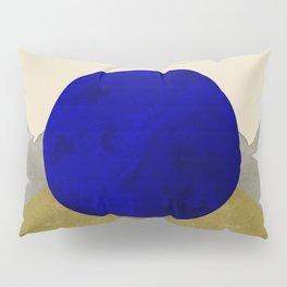 Moonlit Peaks On Beige Watercolor Shapes Pillow Sham