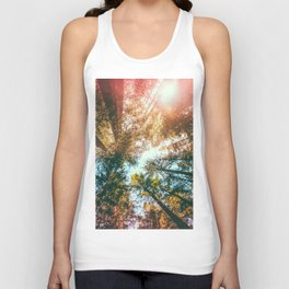 California Redwoods Sun-rays and Sky Unisex Tank Top
