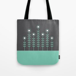 Spring Shoots (Charcoal Black, Lucite Green) Tote Bag