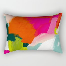 abstract pink art Rectangular Pillow