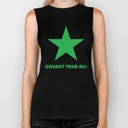 Green Star - Collect Them All! Biker Tank