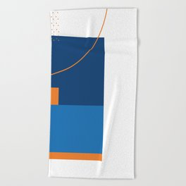 Blue meets blue Beach Towel