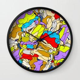 Sleepy Heads - Rainbow 1 Wall Clock