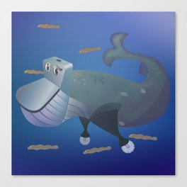 Wc of Whale Canvas Print