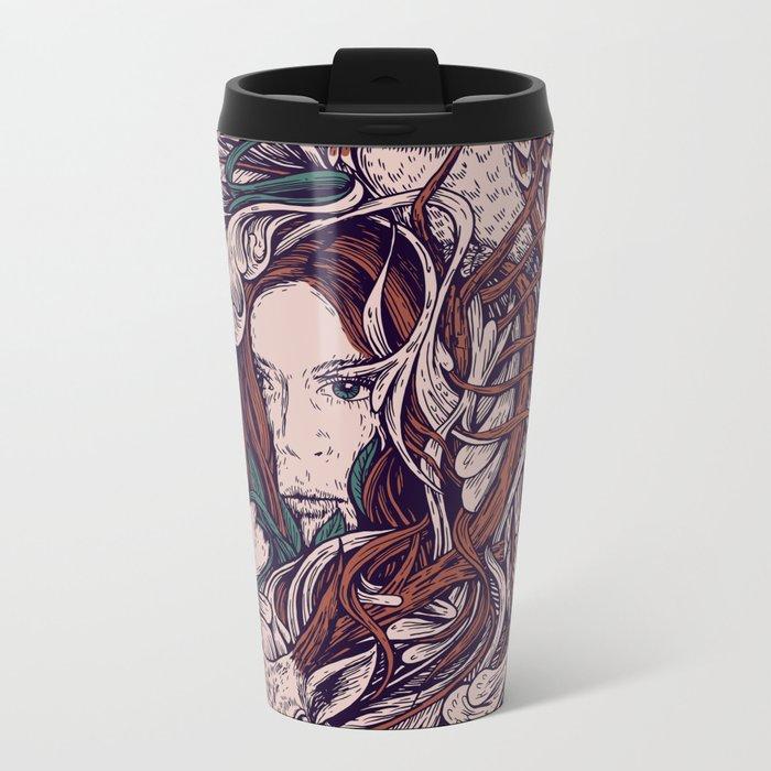 Girl and friends Metal Travel Mug
