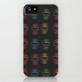 rainbow skulls iPhone Case