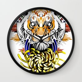 Keep Fierce II Wall Clock