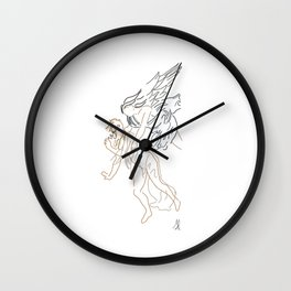 Minimal Spring Wall Clock
