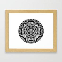 Black Mandala Framed Art Print