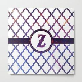 Galaxy Monogram: Letter Z Metal Print