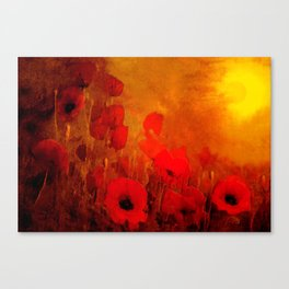 FLOWERS - Poppy heaven Canvas Print