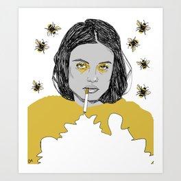 Honeybee Art Print