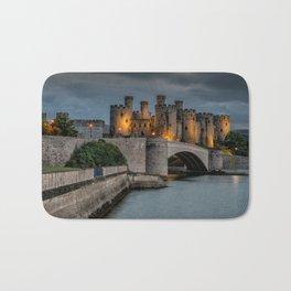 Conwy Castle by Lamplight Bath Mat