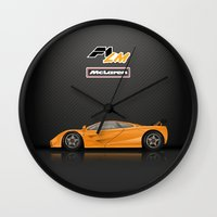 f1 Wall Clocks featuring McLaren F1 LM by vsixdesign