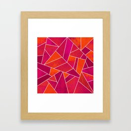 Hot Pink & Orange stone Framed Art Print