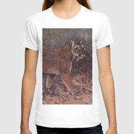 Vintage Puma Painting (1909) T-shirt